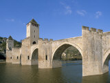 Valentre Bridge, Cahors, Quercy Region, Lot, France Photographic Print by Adam Tall