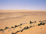 Pre-Islamic Settlement, Messak Mellet, Southwest Desert, Libya, North Africa, Africa Photographic Print by Nico Tondini