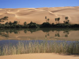 Oum El Ma Lake, Mandara Valley, Southwest Desert, Libya, North Africa, Africa Photographic Print by Nico Tondini