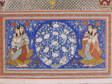 Detail of Exquisite Wall Painting in Sheesh Mahal, Samode Palace, Samode, Rajasthan State, India Photographic Print by John Henry Claude Wilson