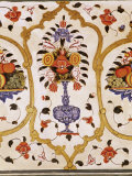 Detail of the Fine Wall Paintings, the City Palace, Jaipur, Rajasthan State, India Photographic Print by John Henry Claude Wilson