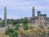 Calton Hill Monuments, Edinburgh, Lothian, Scotland, United Kingdom Photographic Print by Guy Thouvenin