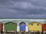 Beach Huts, Muizenberg, Cape Peninsula, South Africa, Africa Photographic Print by Steve & Ann Toon