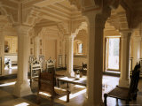 A 400 Year Old Restored Merchant's Haveli, All Stone Structure, Amber Havali (Mansion), Near Jaipur Photographic Print by John Henry Claude Wilson