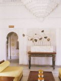 Public Seating Area in the Grand Durbar Hall, Devi Garh Fort Palace Hotel, Near Udaipur, India Photographic Print by John Henry Claude Wilson
