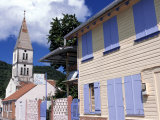 Village and Church, Les Anses d'Arlets, Martinique, West Indies, Caribbean, Central America Photographic Print by Guy Thouvenin
