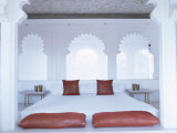 Bedroom Suite with Traditional Cusped Arches, Devi Garh Fort Palace Hotel, Near Udaipur, India Photographic Print by John Henry Claude Wilson