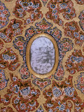 Detail of Painted and Gilded Ceiling in the Public Reception Area, Kuchaman Fort, India Photographic Print by John Henry Claude Wilson