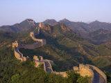 La gran muralla, cerca de Jing Hang Ling, Patrimonio de la Humanidad, Pekín, China Lámina fotográfica por Adam Tall