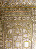 Detail of Fine Mirror and Plaster Work Found in Sheesh Mahal, the City Palace, Jaipur, India Photographic Print by John Henry Claude Wilson