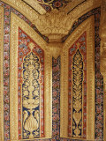 Raised Gilded Plaster Work on Painted Wall, Kuchaman Fort, Kuchaman, Rajasthan State, India Photographic Print by John Henry Claude Wilson