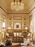 Reception Area for Arriving Guests with Reproduction Colonial Style Furniture, Samode Palace Hotel Photographic Print by John Henry Claude Wilson