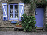 Typical House, Ile De Groix, Brittany, France Photographic Print by Guy Thouvenin