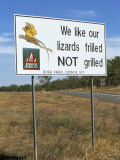 Bush Fire Warning Sign, Northern Territory, Australia Photographic Print by Steve & Ann Toon