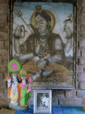 Painting of Krishna on Glass, in 1970s Concrete Structured Home, Gujarat State Photographic Print by John Henry Claude Wilson