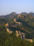 The Great Wall, Near Jing Hang Ling, Unesco World Heritage Site, Beijing, China Fotoprint van Adam Tall