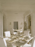 Dining Room, Devi Garh Fort Palace Hotel, Devi Garh, Near Udaipur, Rajasthan State, India Photographic Print by John Henry Claude Wilson