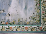 Detail of the Finely Painted Walls in One of the Bedroom Suites, the Lake Palace, Udaipur, India Photographic Print by John Henry Claude Wilson