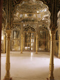 The Sheesh Mahal or a Traditional Feature of Rajasthan Palaces, Kuchaman Fort, India Photographic Print by John Henry Claude Wilson