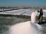 Salt Pans, Kutch District, Gujarat, India, Photographic Print