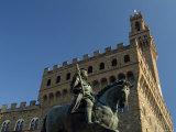 Statue of Cosimo I, Palazzo Vecchio, Piazza Della Signoria, Florence, Tuscany, Italy Photographic Print by Nico Tondini