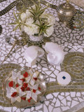 Detail of Mosaic Table in Drawing Room of New Build Home, New Delhi, India Photographic Print by John Henry Claude Wilson