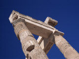 Detail of Top of Temple, Acropolis, Lindos, Rhodes, Dodecanese Islands, Greece Photographic Print by Tom Teegan