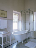 One of the Original Bathrooms from the 1930s and 1940s, Udai Bilas Palace Photographic Print by John Henry Claude Wilson
