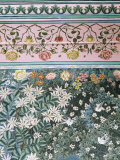 Detail of the Finely Painted Walls in One of the Bedroom Suites, Udaipur, India Photographic Print by John Henry Claude Wilson