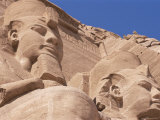 Statues of Ramses II Outside His Temple, Abu Simbel, Unesco World Heritage Site, Egypt Photographic Print by Nico Tondini