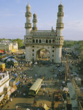 The Char Minar (Charminar) Triumphal Arch in Hyderabad, Andhra Pradesh, India Photographic Print by John Henry Claude Wilson