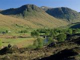 Glen Lyon, River Lyon and Meggernie Castle, Tayside, Scotland, United Kingdom Photographic Print by Adam Woolfitt