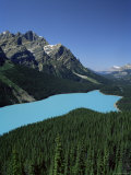 Peyto Lake, Banff National Park, Unesco World Heritage Site, Alberta, Rockies, Canada Photographic Print