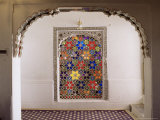 Coloured Glass Jali in Hallway Within the Palace, Deo Garh Palace Hotel, Deo Garh, India Photographic Print by John Henry Claude Wilson