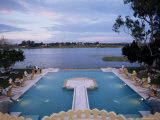 The Swimming Pool Over Looking the Lake at Dungarpur, Udai Bilas Palace, Dungarpur, India Photographic Print by John Henry Claude Wilson