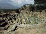 The Theatre at Ancient Sparta, Peloponnese, Greece Photographic Print by Loraine Wilson