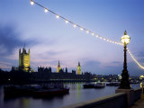 Houses of Parliament in the Evening, London, England, United Kingdom Photographic Print by Adam Woolfitt