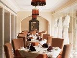 Dining Room Area, Usha Kiran Palace Hotel, Gwalior, Madhya Pradesh State, India Photographic Print by John Henry Claude Wilson