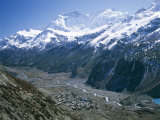 View Over Manang, Gangapurna Mountains, Himalayas, Nepal Photographic Print by Loraine Wilson