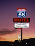 Motel Sign, Route 66, Arizona, USA Lmina fotogrfica