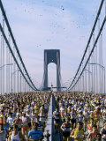 Runners, Marathon, New York, New York State, USA Papier Photo par Adam Woolfitt
