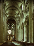 The Nave, Durham Cathedral, County Durham, England, United Kingdom Photographic Print by Adam Woolfitt