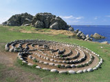 Troy Town Maze, St. Agnes, Isles of Scilly, United Kingdom Photographic Print by Adam Woolfitt