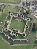 Aerial View of Beaumaris Castle, Unesco World Heritage Site, Gwynedd, Wales, United Kingdom Photographic Print by Adam Woolfitt