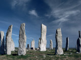 Standing Stones, Callanish, Isle of Lewis, Outer Hebrides, Scotland, United Kingdom Photographie par Adam Woolfitt