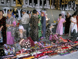 Selling Traditional Textiles for Weddings, Urgut, Uzbekistan, Central Asia Photographic Print by Occidor Ltd