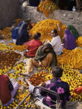 Flower Market, Lado Sarai, Delhi, India Photographic Print by John Henry Claude Wilson