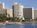 Waikiki Beach, Waikiki, Hawaii, Hawaiian Islands, USA Photographic Print by Alison Wright