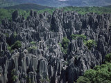 Limestone Stone Forest, Near Kunming, Yunnan Province, China Photographic Print by  Occidor Ltd