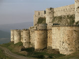The Krak Des Chevaliers, Crusader Castle, Syria, Middle East Photographic Print by Adam Woolfitt